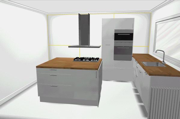 L keuken met keukeneiland werkspot - Eiland in de kleine keuken ...