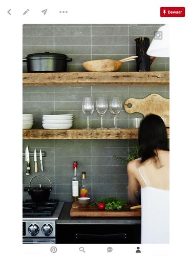 Zwevende robuuste houten schappen maken in keuken werkspot for Houten vijverbak maken