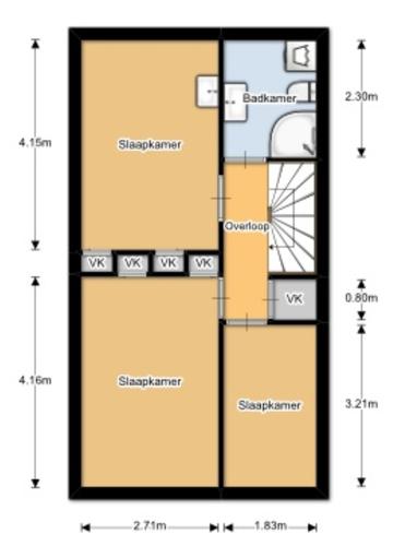van 1 slaapkamer weer 2 kamers maken, muurplaatsen - Werkspot