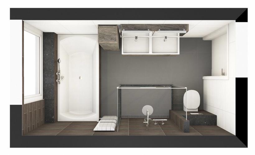 Badkamer betegelen incl vloer muur zetten en bad en wc betimmeren