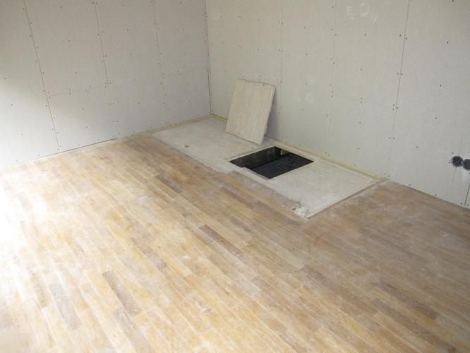Vloer schuren en white wash aanbrengen werkspot