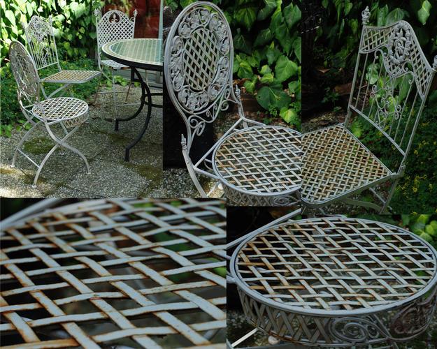 Afnemen  Borstelen + schilderen 4 ijzeren tuinstoelen   Werkspot