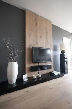 Super TV wand en eenvoudige tafel van steigerhout - Werkspot @VQ14
