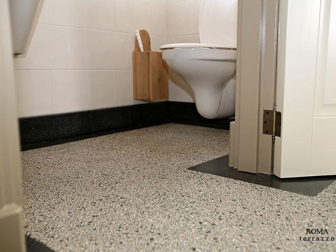 leggen terrazzo vloer - werkspot, Badkamer