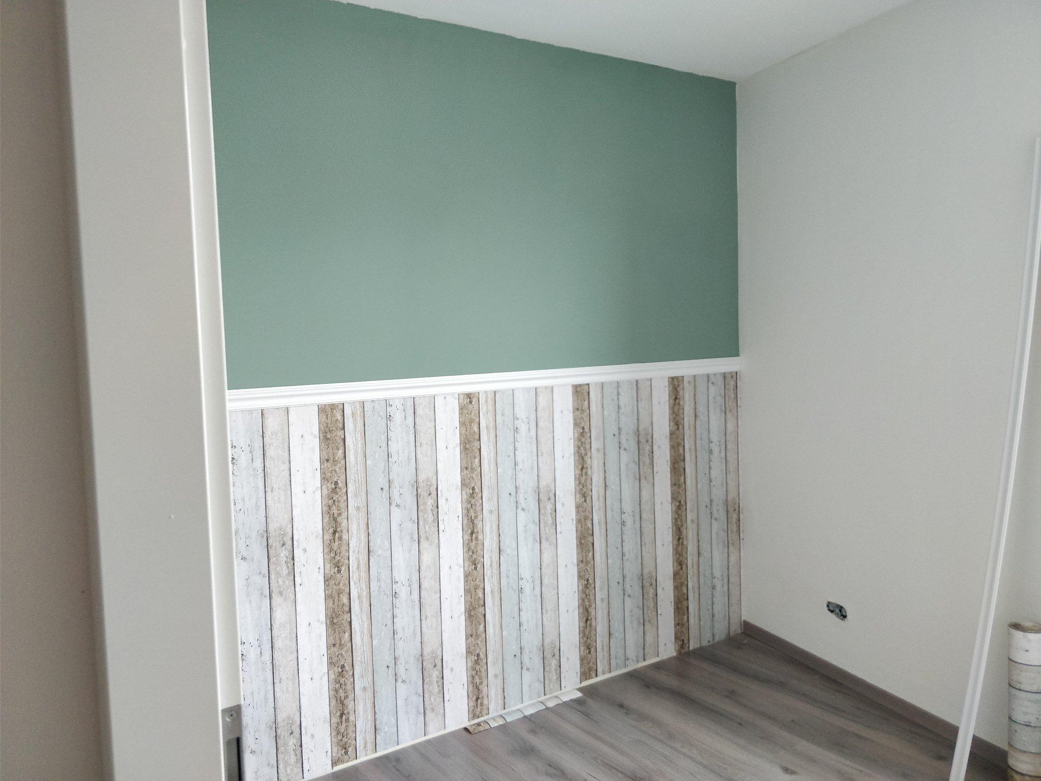 Steigerhout Muur Slaapkamer : Steigerhout behang slaapkamer. cheap het is een behang waarmee je