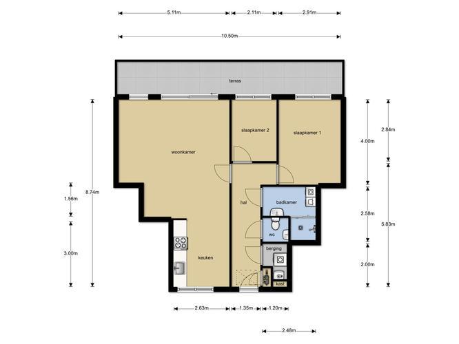van toilet en badkamer 1 ruimte maken, door WC te verplaatsing (ws ...