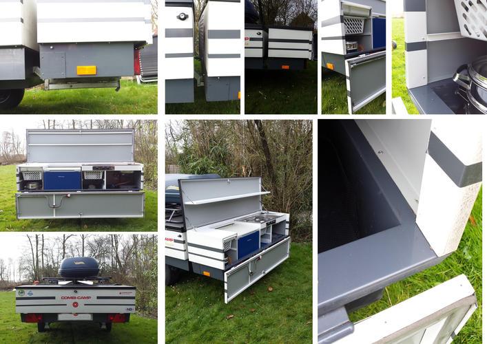 Keuken achter vouwwagen maken van plaatmateriaal werkspot