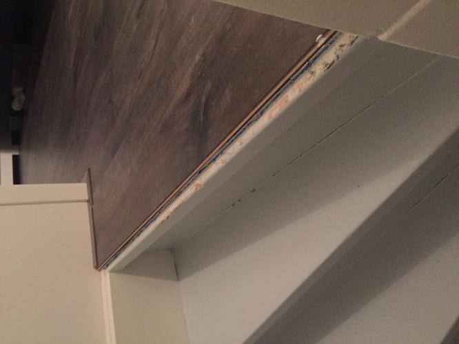 Overgang trap met laminaat   Werkspot