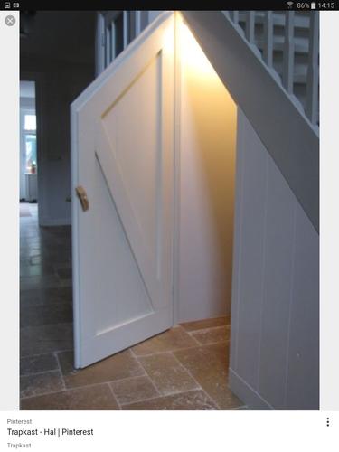 Deur maken onder de trap en voor meterkast werkspot for Trap mooi maken