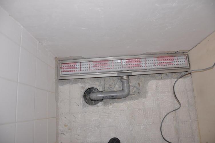 afvoerput aangesloten op douche goot werkspot