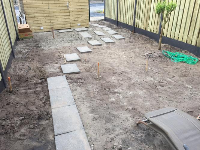 Aanleg complete tuin in nieuwbouwsituatie werkspot
