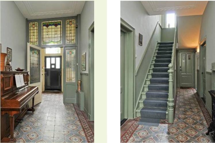 In 2 onder 1 kap villa te oisterwijk schilderen houtwerk sauzen wa werkspot - Gang decoratie met trap ...