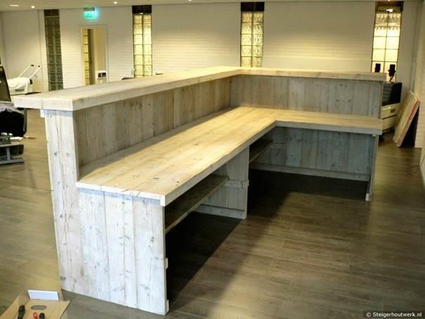 Steigerhout werkblad mdf lakken hoogglans for Tafelblad steigerhout maken