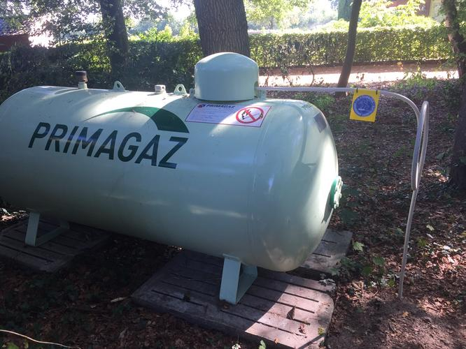 Propaan tank aansluiting
