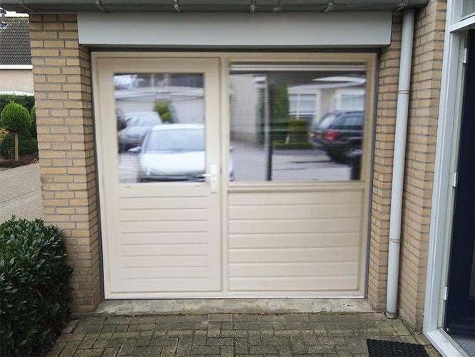 Fonkelnieuw Garagedeur eruit, pui erin met kozijn, deur en raam en asbest 12 NW-24