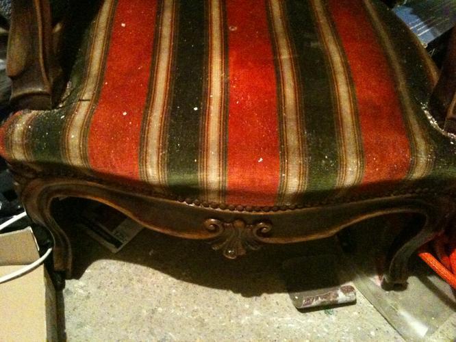 Barok stoel bekleden werkspot