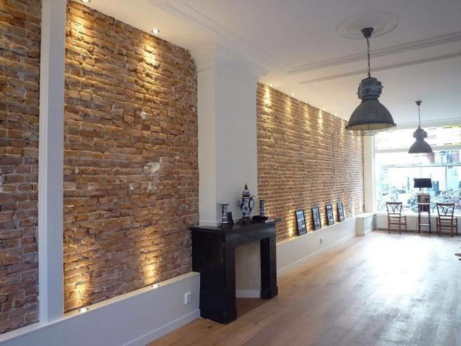 Industri le bakstenen muur gezocht werkspot - Bakstenen muur woonkamer ...