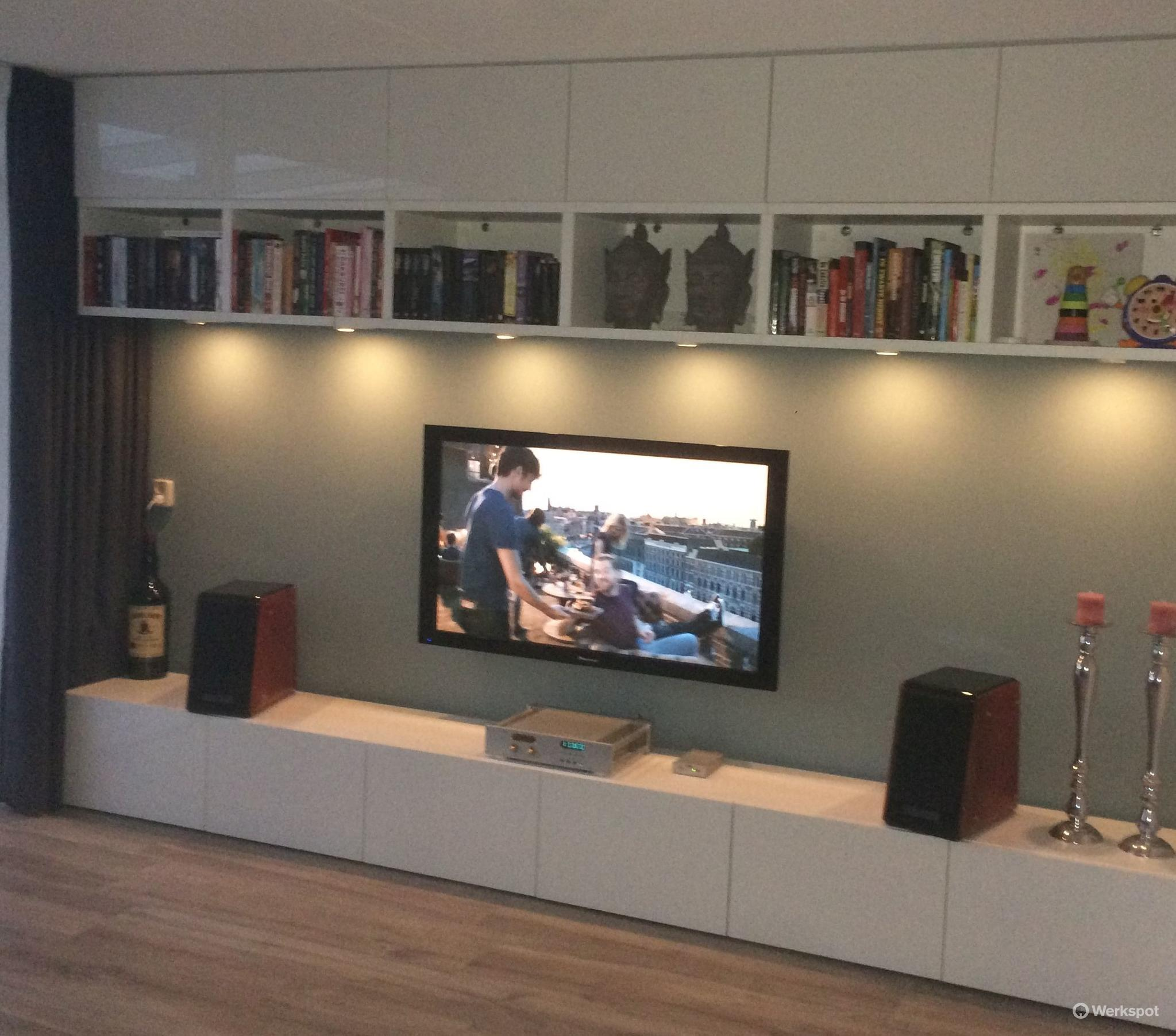 ikea besta zwevend ophangen werkspot. Black Bedroom Furniture Sets. Home Design Ideas