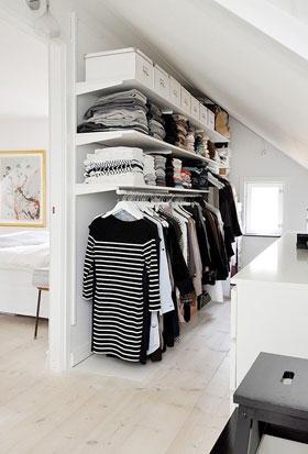 Favoriete open kledingkast zolder - Werkspot &EU37