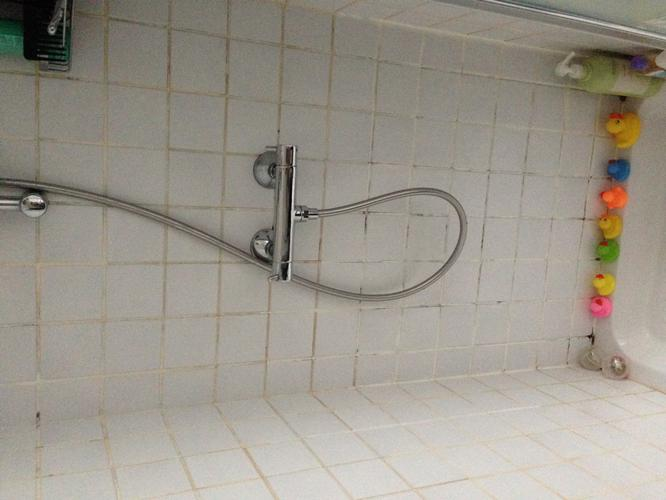 Tegels vervangen in de douche en zeil vervangen in de badkamer ...