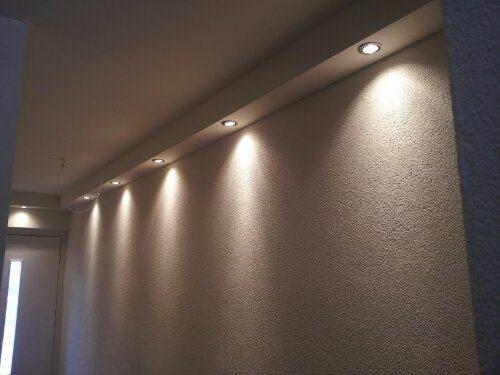Licht koof woonkamer ( nieuwbouw ) & 2 badkamers verlagen met spots ...