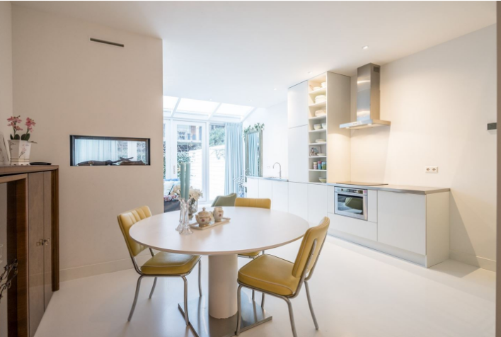 Plaatsen steenstrips op gladde muur in keuken werkspot for Wanden nieuwbouwwoning afwerken