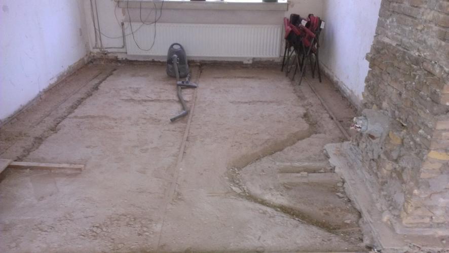 houten vloer vervangen of vloer vervangen door betonnen vloer met, Deco ideeën