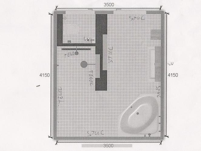 Installatie badkamer en WC inclusief tegelzetten exclusief tegels e ...