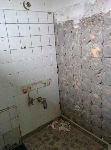 badkamer tegels stucwerk: cement stucwerk badkamer: sydati cement, Badkamer