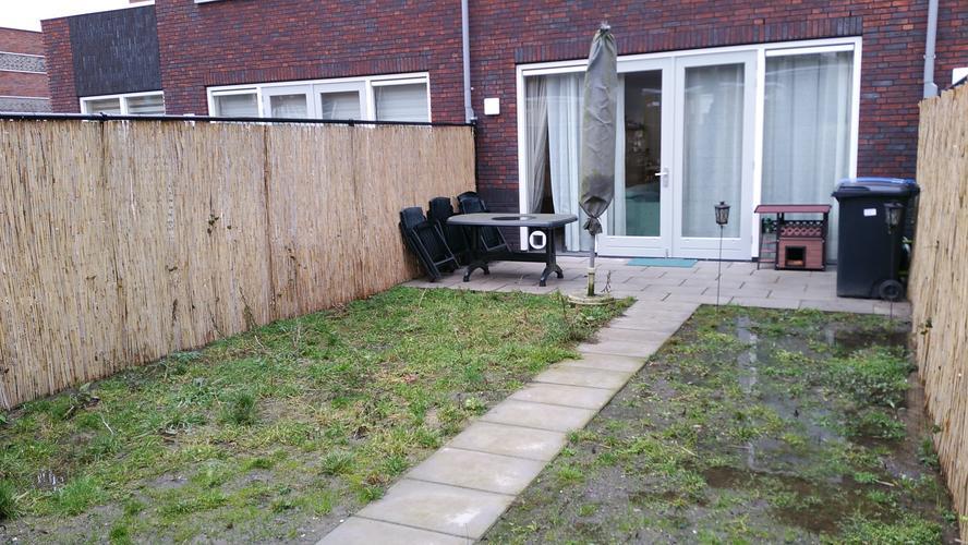 Kleine tuin aanleggen en tegels leggen werkspot