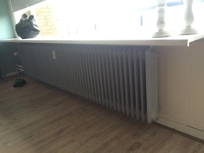 Radiatorombouw maken voor 2 radiatoren onder vensterbank for Vensterbank vervangen