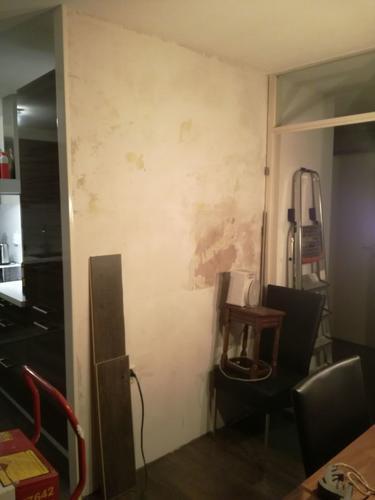 Kleine reparatie badkamer + gipsblokken wand na lekkage - Werkspot