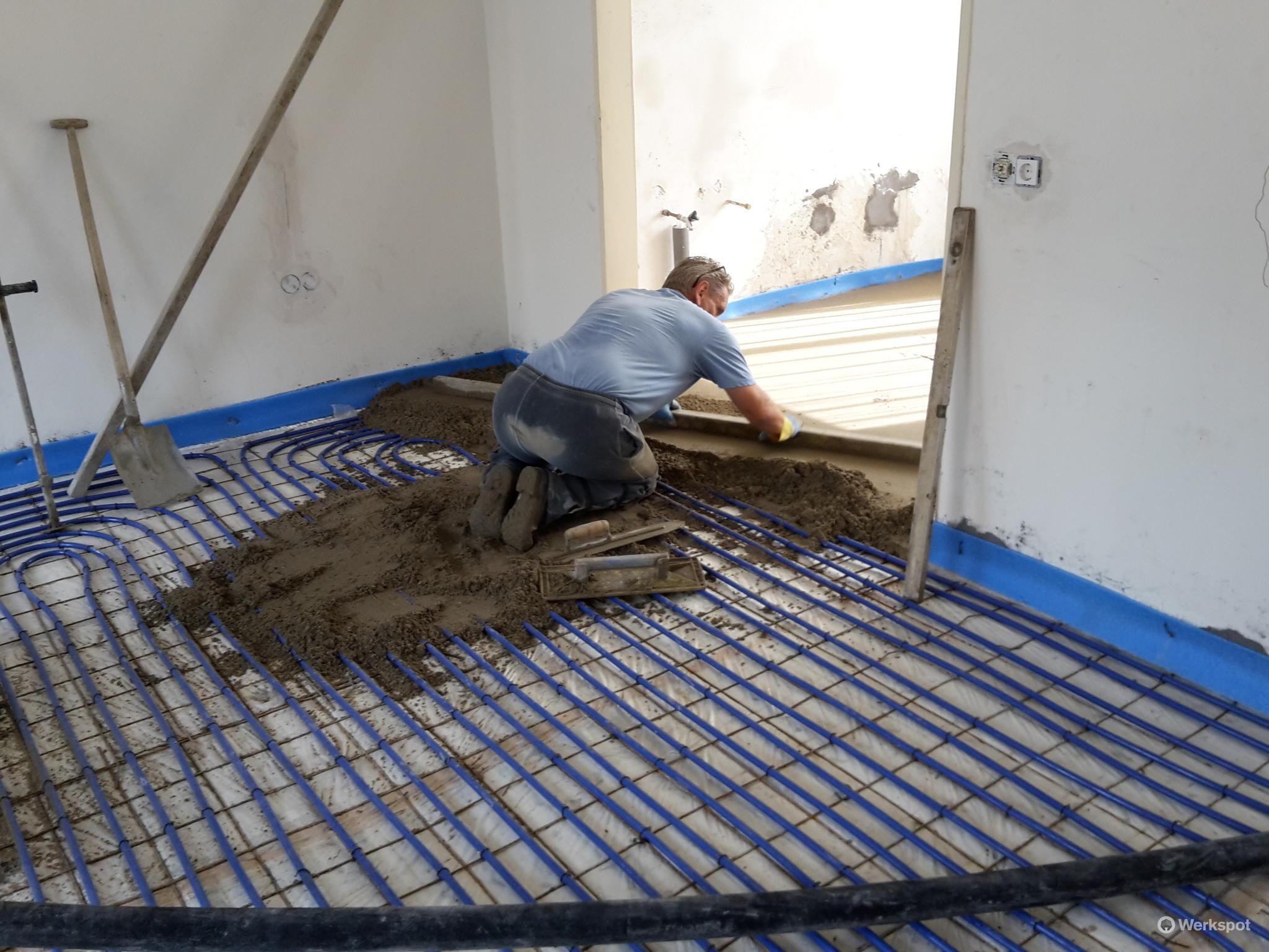 Zand cement vloer storten werkspot