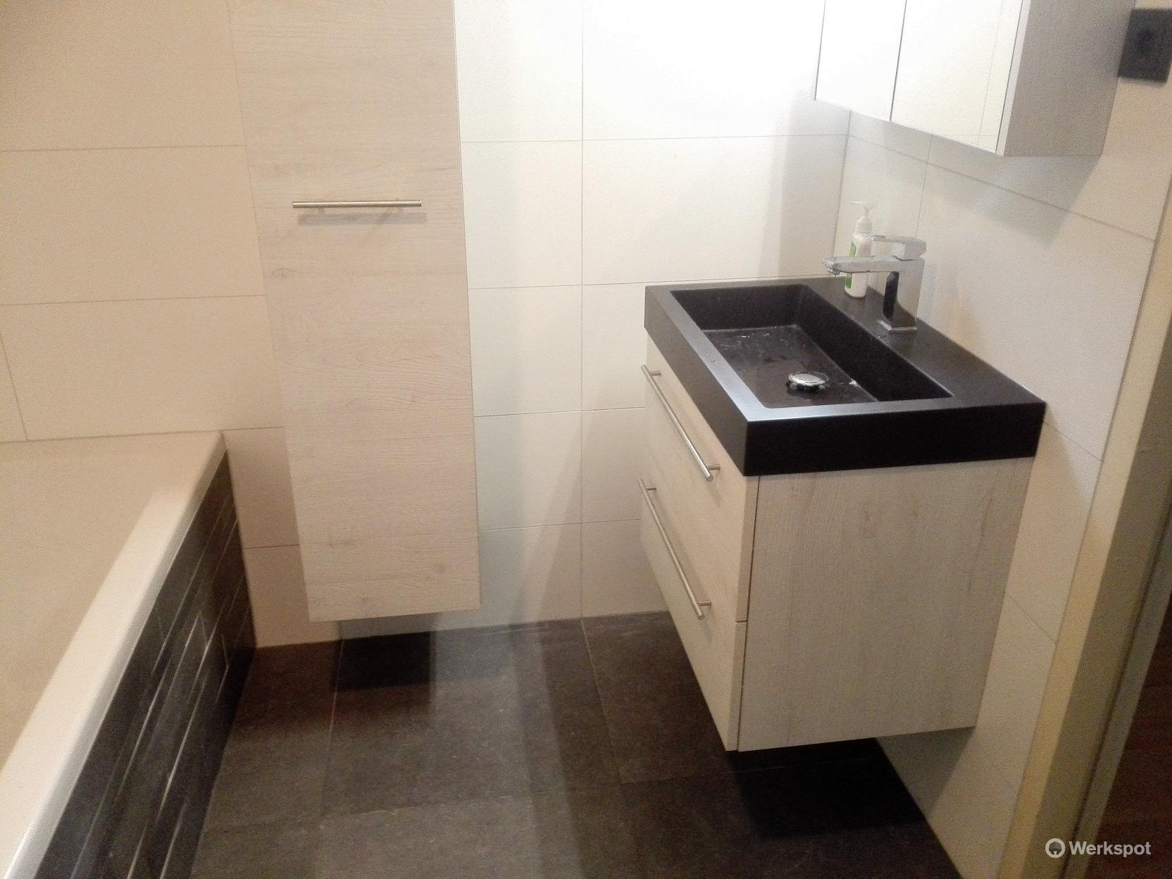 Badkamer 5.8 m2 en toilet 1 m2 verbouwen werkspot