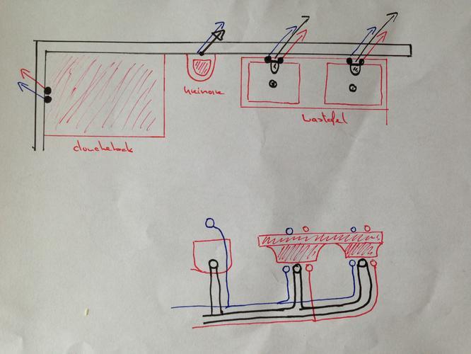 Badkamer leidingen verplaatsen en verlengen werkspot for Wastafel aansluiten