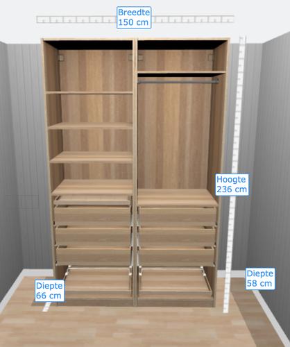 Super deuren pax kast rv95 aboriginaltourismontario for Spiegelkast voor badkamer