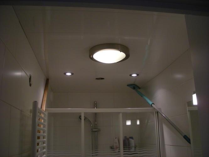 Verwijderen en opnieuw plaatsen kunststof plafond incl. lampen ...
