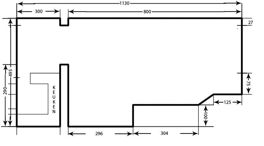 Stucwerk woonkamer + keuken - Werkspot