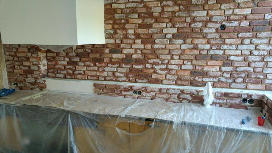 Achterwand Keuken Steenstrips : Invoegen achterwand keuken steenstrips werkspot