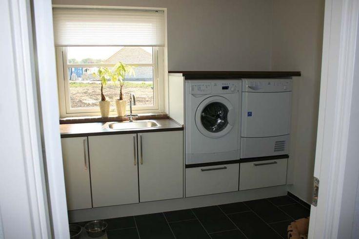 Wasmachine droger meubel met werkblad werkspot for Ladeblok 40 diep