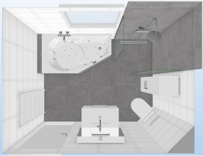 Installatie badkamer 2x3 meter werkspot for Installatie badkamer