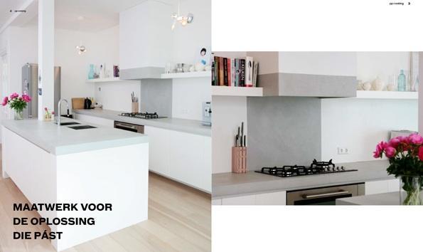 Koof en planken timmeren voor de keuken werkspot