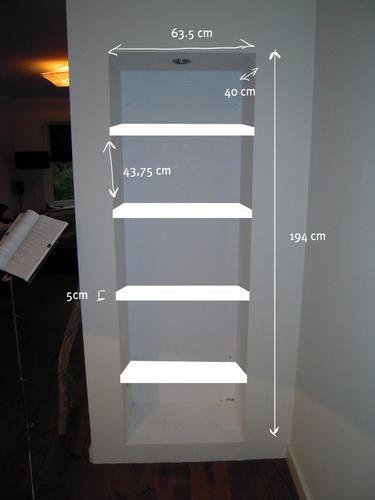 zwevende kastplanken maken - Werkspot
