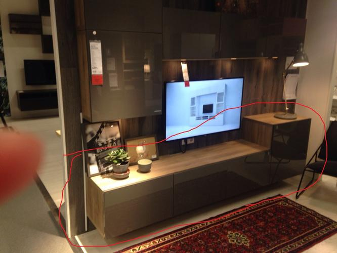 Ikea kast Besta (Tv meubel + ophangen televisie in woonkamer ...