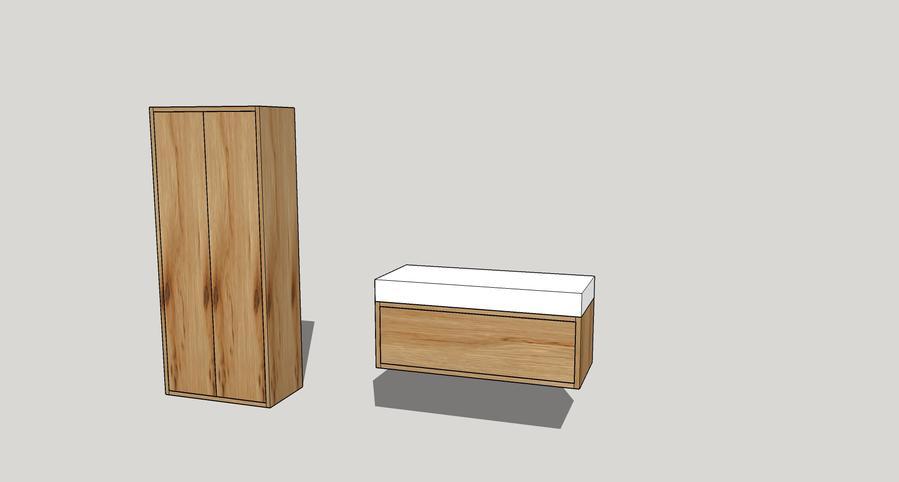 ophangen badmeubel en badkamerkast - werkspot, Badkamer