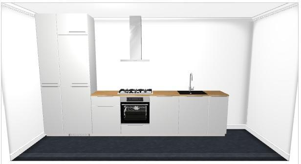 Rechte Keuken Ikea : Ikea montage rechte opstelling meter werkspot