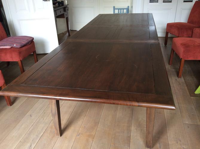 schuren lakken en oli n kersen houten tafel 280 97 ForTafel Schuren En Olien