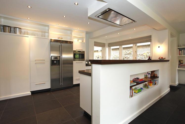 Bouwen van een afscheidingsmuur voor open keuken werkspot - Hoe dicht een open keuken ...