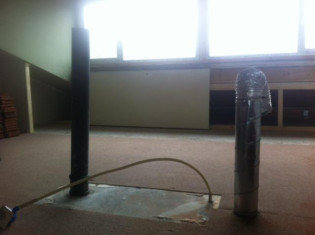 Afvoer Douche Ontluchting : Plaatsen afvoer mechanische ventilatie en ontluchting door dak