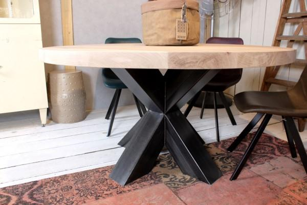 Houten ronde tafel maken werkspot for Stalen onderstel tafel laten maken